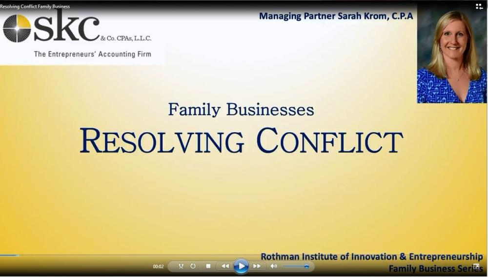 Resolving Conflict in Family Business