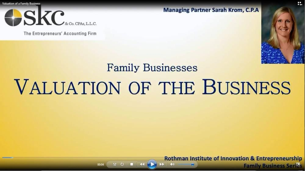 Valuation of a Family Business