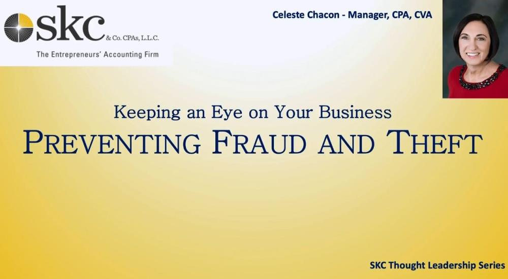Preventing Fraud and Theft in Your Organization