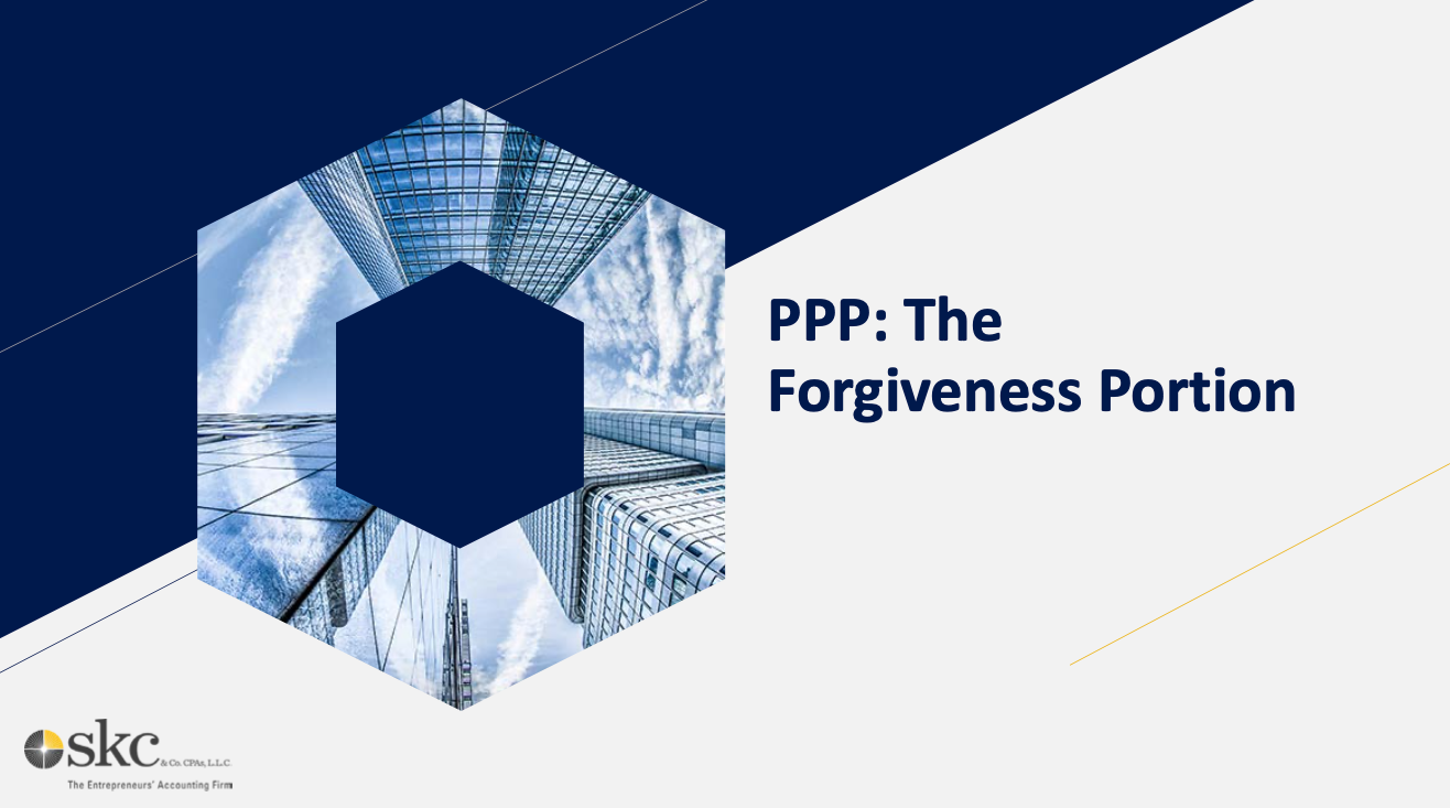 PPP: The Forgiveness Portion