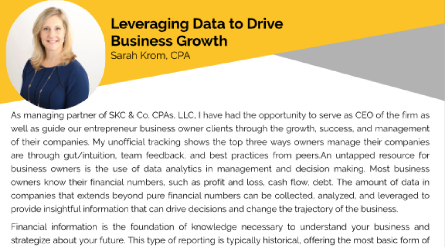 Leveraging Data to Drive Business Growth