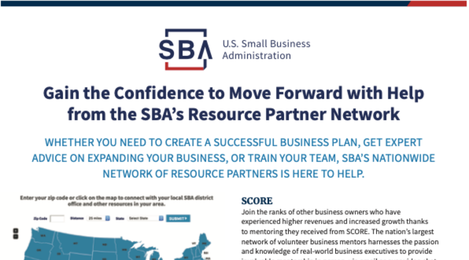 SBA's Resource Partners